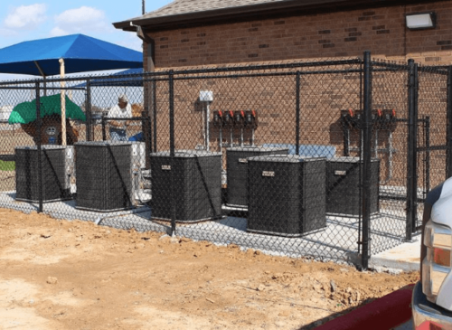 chain link fence dallas xtreme air services 1